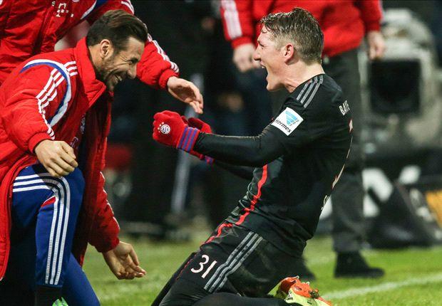 Schweinsteiger cân bằng tỷ số cho Bayern Munich