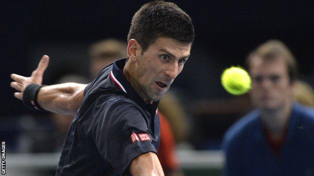 Djokovic đã có chiến thắng đầu tay tại Paris Masters 2014