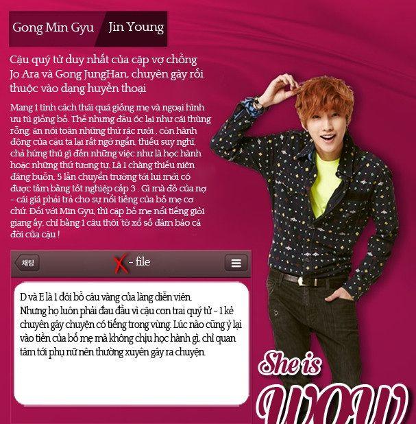 Nam diễn viên Jin Young vai Gong Min Gyu