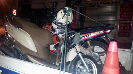 Số xe máy hư hỏng trong vụ tai nạn.