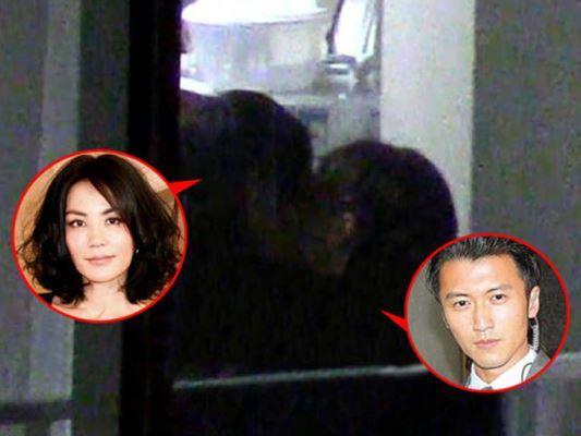 Những hình ảnh thân mật của Vương Phi và Tạ Đình Phong bị giới săn ảnh ghi lại