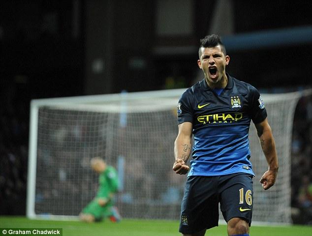 Aguero đang là vua phá lưới lượt đi Premier League.