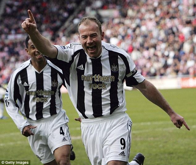 Siêu tiền đạo Alan Shearer với 260 bàn/441 trận  tại Premier League