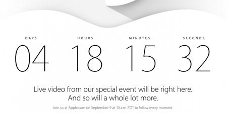 Đồng hồ đếm ngược sự kiện được Apple cập nhật
