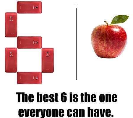 6 chiếc ZenFone cho cả gia đình hay 1 quả táo cho mình bạn?
