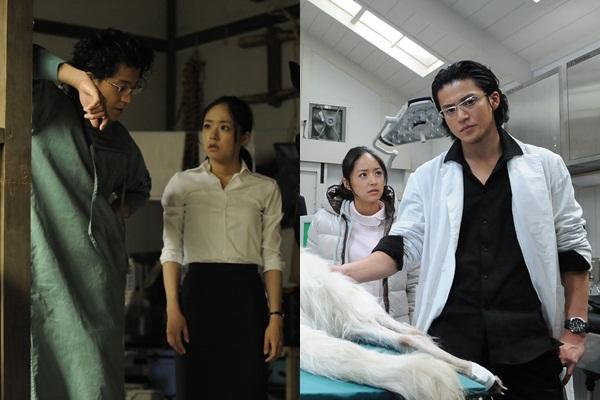 Oguri Shun và Inoue Mao trong phim Bác sỹ thú y Dolittle.