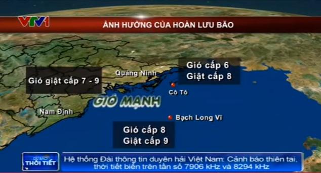 Bão số 3: Tối 16/9, vùng tâm bão sẽ đi vào đất liền các tỉnh phía Đông Bắc Bộ