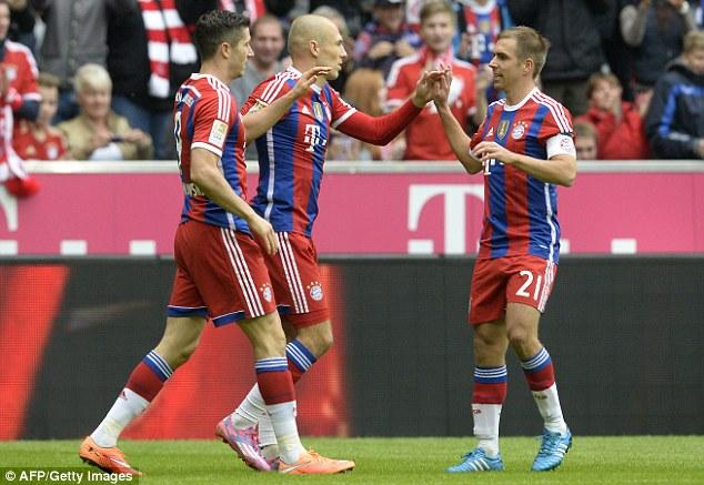 Bayern vẫn thể hiện sức mạnh tuyệt đối ở Bundesliga