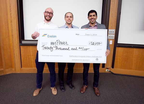 Alex Smith, Mike Geier và Tejas Shastry chiến thắng trong cuộc thi Northwestern University Venture với AMPY