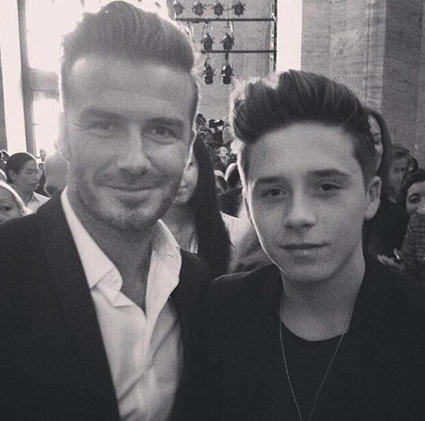David Beckham và cậu cả Brooklyn Beckham