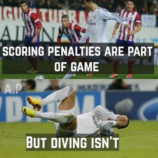 Ghi bàn là một phần của trận đấu, nhưng đóng kịch thì không!