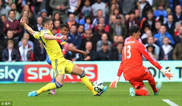 Cahill (vàng) là trung vệ hay nhất Anh quốc ở thời điểm hiện tại.