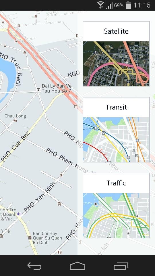 HERE Maps cung cấp các thông tin trên bản đồ tương tự như Google Maps