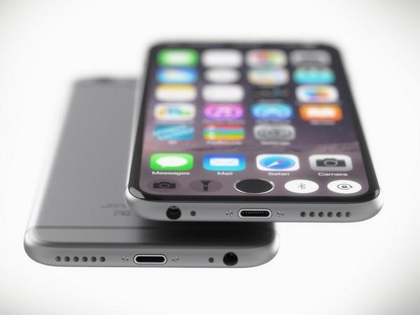 Mẫu thiết kế iPhone 7 với nút Home nằm giữa màn hình