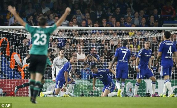 Tuy nhiên, The Blues lại không thể bảo vệ được thành quả này cho tới hêt trận.