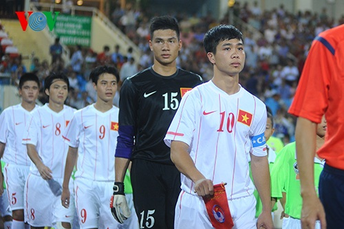 Công Phượng đeo băng thủ quân của ĐT U19 Việt Nam (Ảnh: VOV)