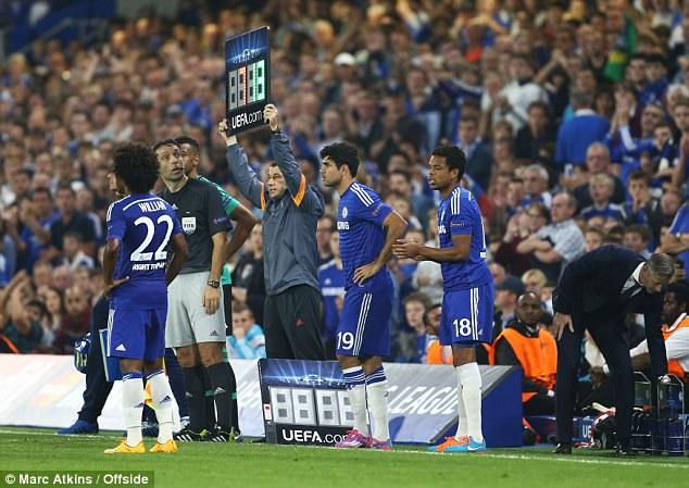 Diego Costa chỉ thi đấu 17 phút trong trận gặp Schalke