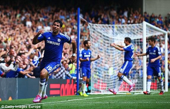 Costa có ngày thi đấu chói sáng với cú hat-trick vào lưới Swansea.
