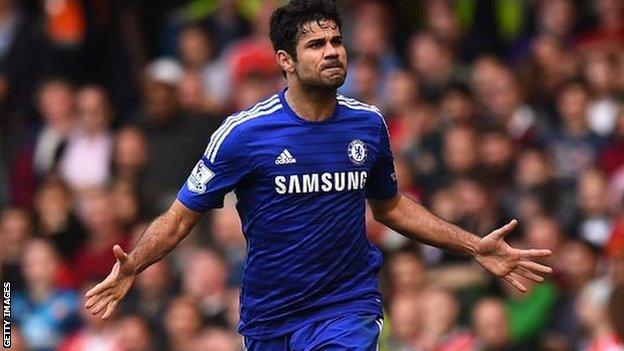 Diego Costa không thể góp mặt do bị treo giò