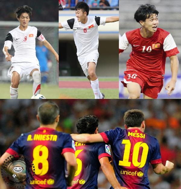 Bộ ba tấn công của U19 Việt Nam có gợi cho người hâm mộ nghĩ tới bộ ba nào không?