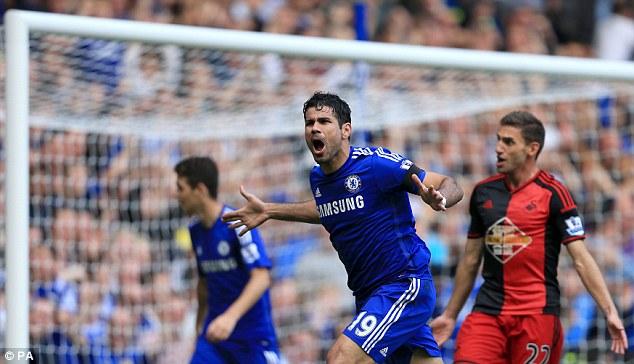 Diego Costa ghi 7 bàn/4 trận đấu