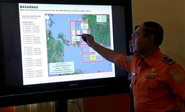 Các khu vực tìm kiếm được khoanh đỏ trên màn hình.