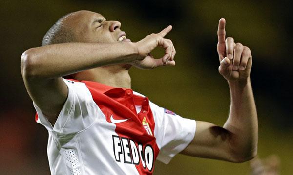 Fabinho (Monaco) ăn mừng bàn thắng phút 89