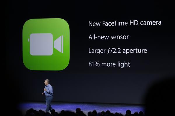 Những cải tiến ở camera FaceTime HD mới