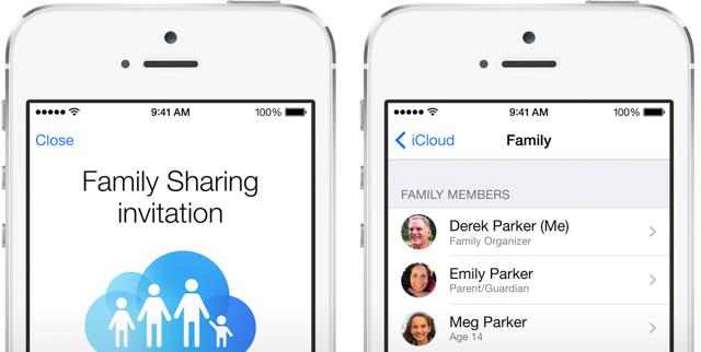 Mọi người có thể chia sẻ với nhau qua Family Sharing