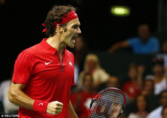 Federer đóng góp 2 trong 3 trận thắng cho Thụy Sỹ