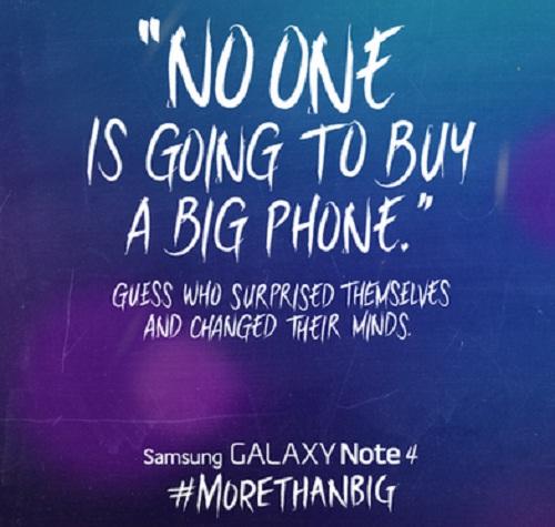 Hình ảnh đá đểu iPhone 6 được Samsung Philippines đăng trên Tweet