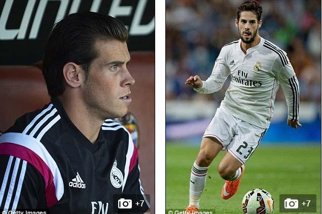 Gareth Bale thường xuyên phải ngồi trên ghế dự bị trước sự cạnh tranh của Isco