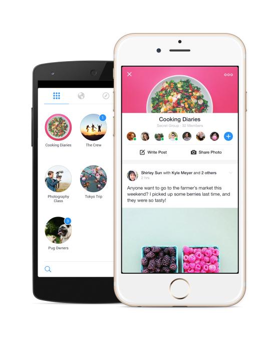 Facebook ra mắt ứng dụng mới mang tên Groups