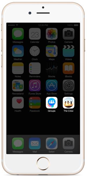 Người dùng có thể truy cập nhanh vào nhóm từ màn hình Home của thiết bị