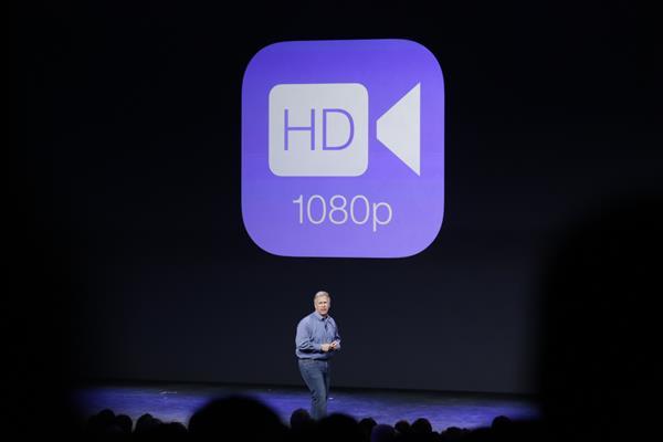 Camera iPhone 6 cho phép quay video có độ phân giải 1080p