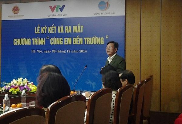 Ông Phạm Văn Quang, Chủ tịch Quỹ Tấm lòng Việt - Đài THVN chia sẻ trong cuộc họp báo ra mắt chương trình