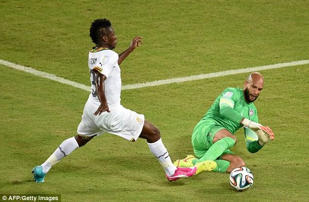Howard đã thiết lập kỷ lục cản phá trong một trận đấu ở World Cup trên đất Brazil.