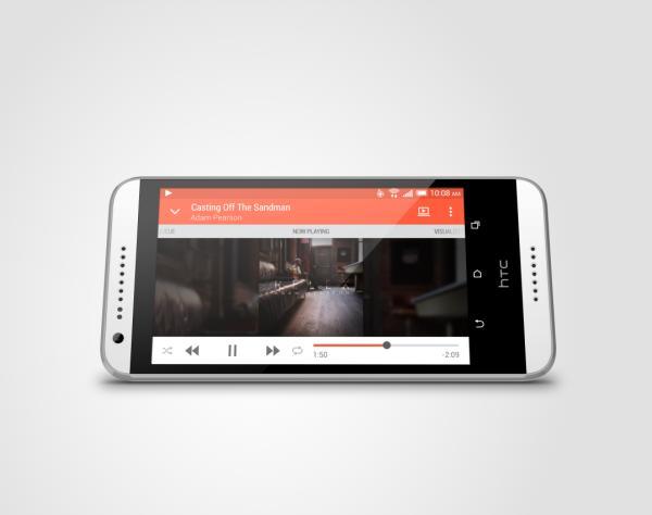 Màn hình 5 inch với độ phân giải HD 720p  của Desire 620G