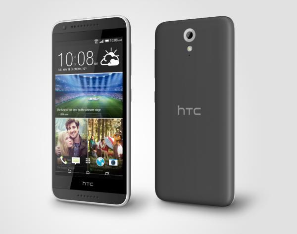HTC Desire 620G được bán với 2 màu: trắng - viền xám nhạt và xám - viền xám nhạt