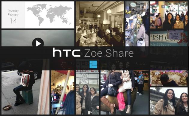 HTC Zoe, phần mềm tập hợp và chỉnh sửa phim ảnh chuyên dụng