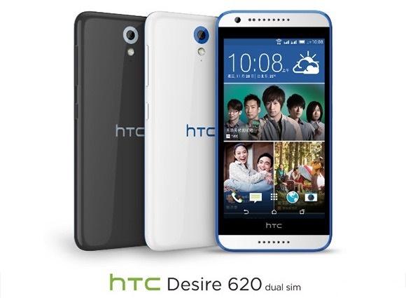 HTC Desire 620 hỗ trợ 2 SIM