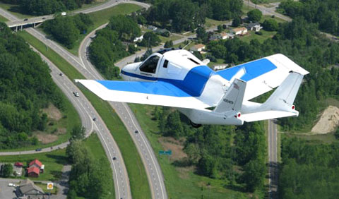 Transition có thể bay với vận tốc 160 km/h