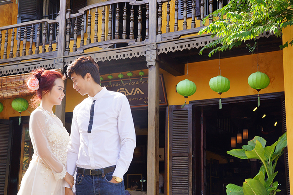 Cặp đôi đã đi rất nhiều nơi để chụp ảnh cưới