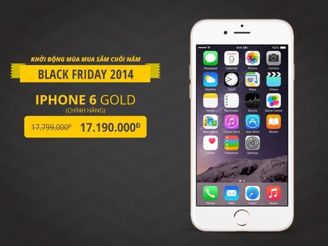 Chiếc iPhone 6 là sản phẩm được giảm giá đặc biệt nhân dịp Black Friday
