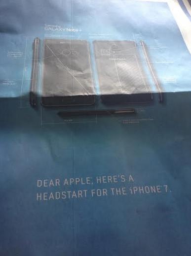 Poster quảng cáo của Galaxy Note 4