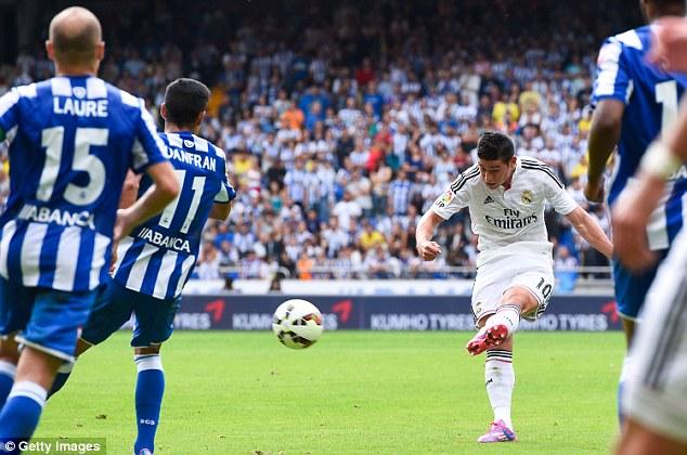 Tân binh James Rodriguez lập công cho Real