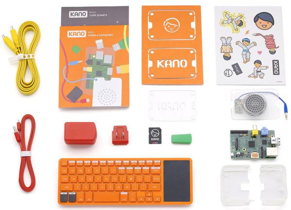 Các bộ phận chiếc máy tính lắp ráp Kano