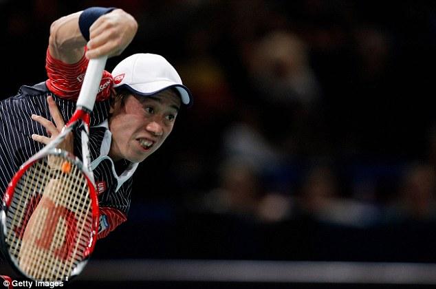 Kei Nishikori  cũng có mặt tại bán kết Paris Masters 2014