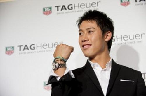 Kei Nishikori còn là đại diện cho thương hiệu đồng hồ Tag Heue.