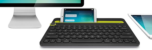 Khe cắm của bàn phím cho phép kết nối tối đa lên tới 3 thiết bị